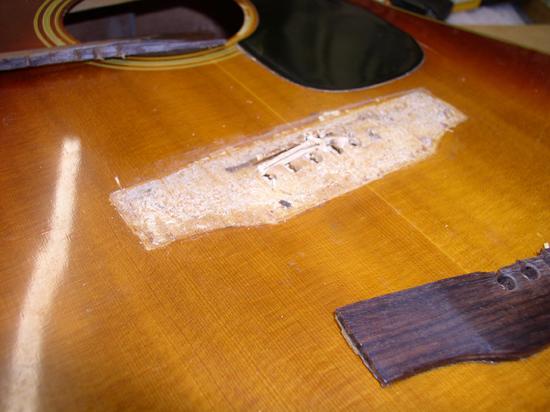 Gibson SJ Deluxe Acoustic Guitar Repair (Bridge & Face)