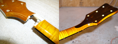 Guitar Neck Repair (Before & After)